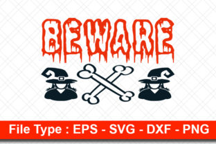 Print on Demand: Halloweeen  Svg Design, Beware Graphic Print Templates By svg_hut