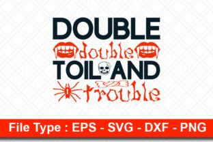 Print on Demand: Halloweeen  Svg Design, Double Double Graphic Print Templates By svg_hut