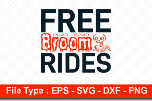 Print on Demand: Halloweeen  Svg Design, Free Broom Rides Graphic Print Templates By svg_hut