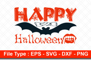 Print on Demand: Halloweeen  Svg Design, Happy Halloween Grafik Druck-Templates von svg_hut