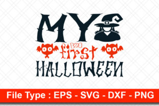 Print on Demand: Halloweeen  Svg Design, My First Graphic Print Templates By svg_hut