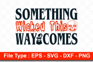 Print on Demand: Halloweeen  Svg Design, Something Wicked Graphic Print Templates By svg_hut