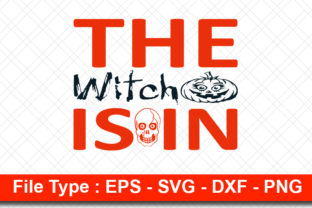 Print on Demand: Halloweeen  Svg Design, the Witch is in Graphic Print Templates By svg_hut