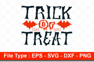 Print on Demand: Halloweeen  Svg Design, Trick or Treat Graphic Print Templates By svg_hut