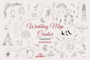 Hand Drawn Wedding Map Creator Graphic Illustrations By Kirill's Workshop