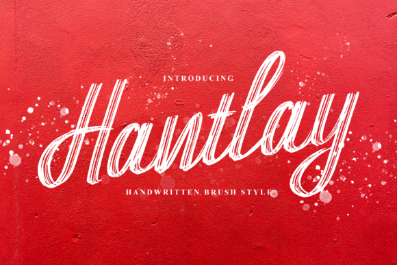 Print on Demand: Hantlay Script & Handwritten Font By DYSA Studio