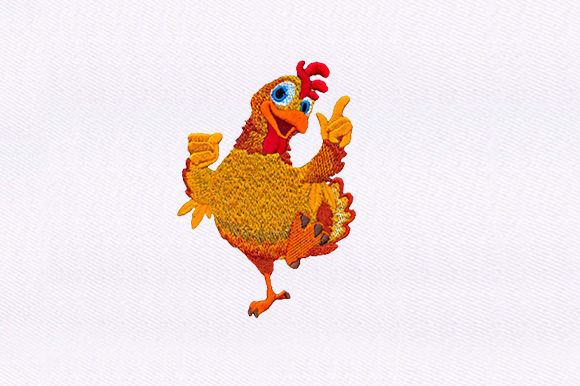 Happily Rooster Birds Embroidery Design By DigitEMB