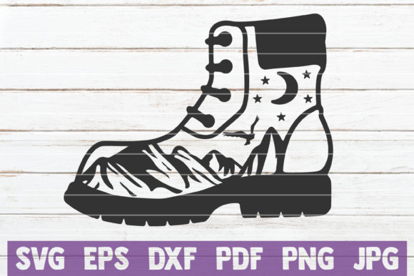 Hiking Boot Graphic Crafts By MintyMarshmallows