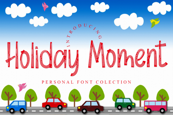 Print on Demand: Holiday Moment Display Font By giatstudios