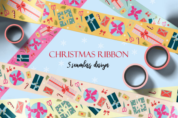 Holiday Packing Tapes and Ribbons/ Png. Graphic Patterns By AnNetArt