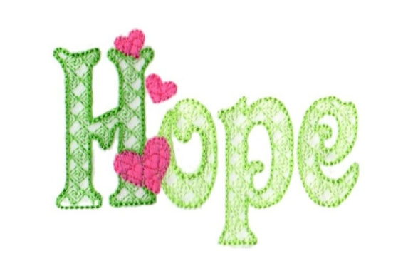 Hope Christmas Embroidery Design By Sew Terific Designs