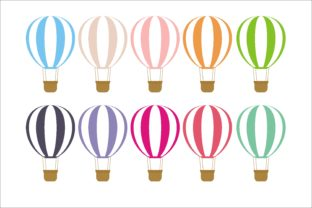 Print on Demand: Hot Air Baloon Collection Graphic Illustrations By edywiyonopp