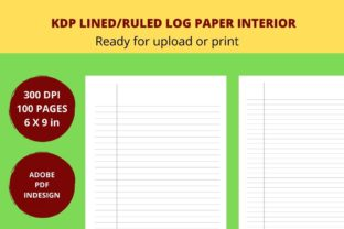 KDP RULED/LINED LOG PAPER INTERIOR Graphic KDP Interiors By Articolory