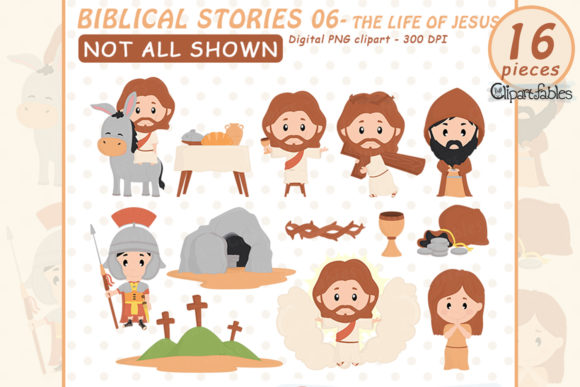 Life of Jesus Graphic Illustrations By clipartfables