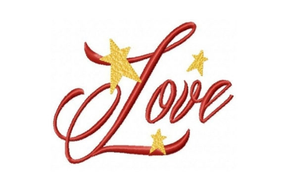 Love Christmas Embroidery Design By Sew Terific Designs