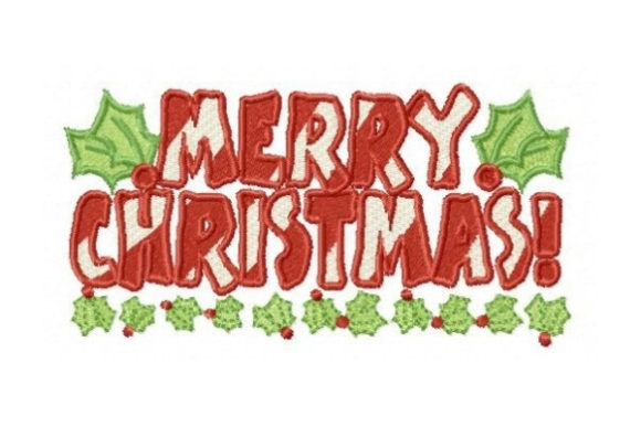 Merry Christmas Christmas Embroidery Design By Sew Terific Designs