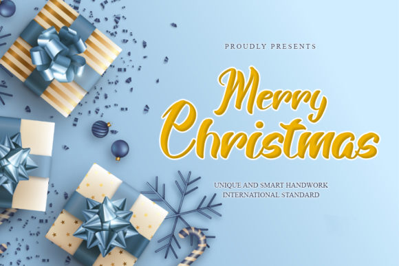 Print on Demand: Merry Christmas Script & Handwritten Font By mizanstudio