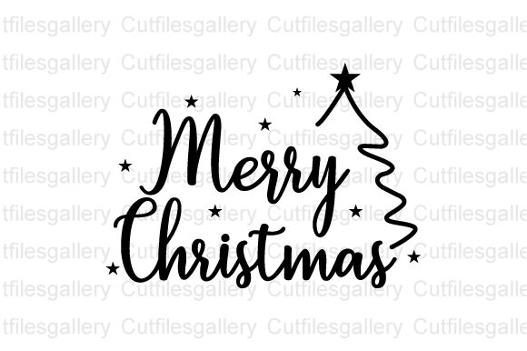 Merry Christmas SVG, Christmas Tree SVG Graphic Crafts By cutfilesgallery