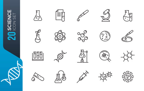 Minimal Science Icon Set Design Graphic Icons By ferart88