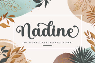 Print on Demand: Nadine Script & Handwritten Font By Graphix Line Studio