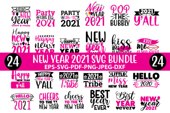 New Year 2021 Bundle Graphic Crafts By Jabrin Super Store