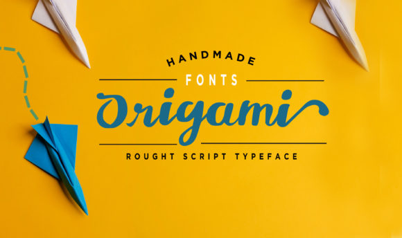 Print on Demand: Origami Script & Handwritten Font By Brilian Studio