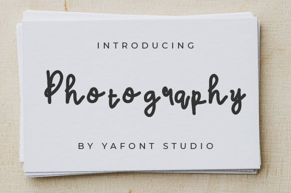 Print on Demand: Photography Script & Handwritten Font By Yafont