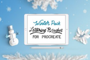 Print on Demand: Procreate Lettering Brushes | Pack Graphic Brushes By GennadiDigitalStudio