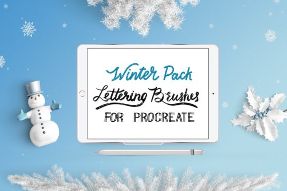 Print on Demand: Procreate Lettering Brushes | Pack Graphic Brushes By Gennadii ART