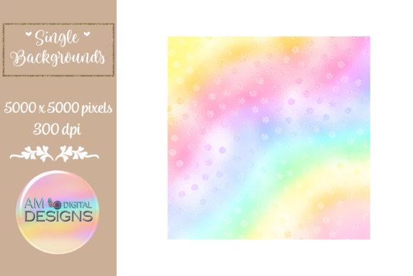 Rainbow Gradient Ombre Foil Polka Dots Graphic Backgrounds By AM Digital Designs