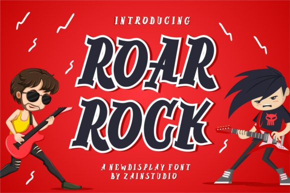 Print on Demand: Roar Rock Display Font By zainstudio