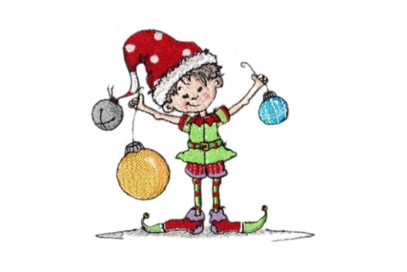 Sassy Noah Elf Christmas Embroidery Design By Sew Terific Designs