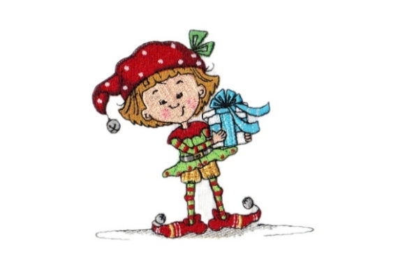 Sassy Sally Elf Christmas Embroidery Design By Sew Terific Designs