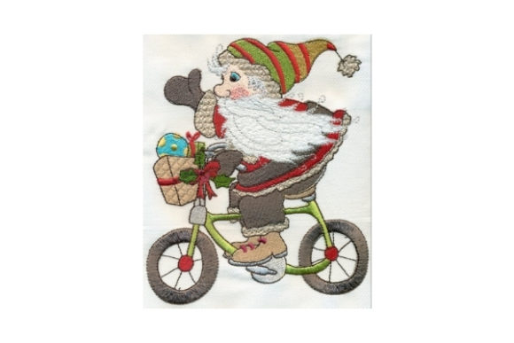 Sassy Special Delivery Santa Embroidery