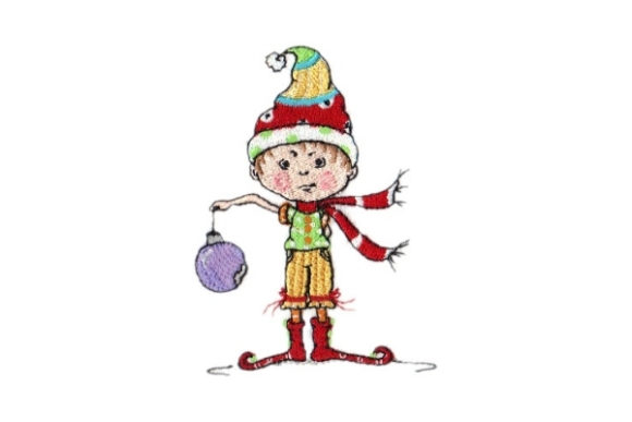 Sassy Uh-Oh Elf Christmas Embroidery Design By Sew Terific Designs