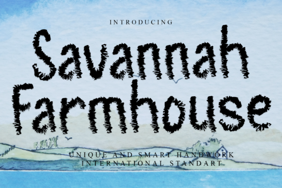 Print on Demand: Savannah Farmhouse Display Font By giatstudios