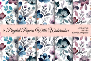 Print on Demand: Seamless Pattern Floral Watercolor 25 Graphic Patterns By asrulaqroni
