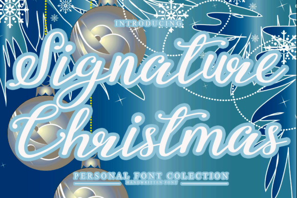 Print on Demand: Signature Christmas Script & Handwritten Font By giatstudios