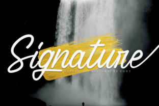 Print on Demand: Signature Script & Handwritten Font By Creativewhitee