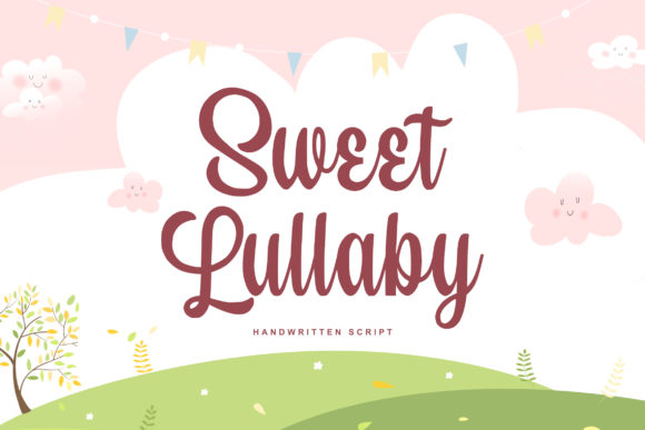 Print on Demand: Sweet Lullaby Script & Handwritten Font By Damarletter