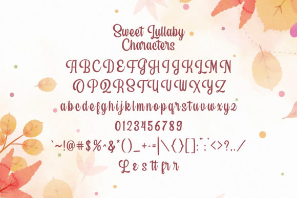 Sweet Lullaby Font Image