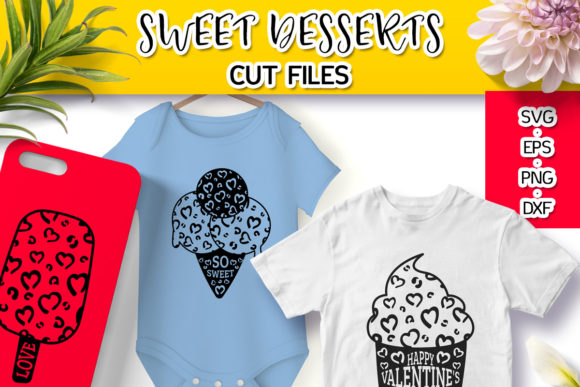 Sweet Desserts with Leopard Print Svg Graphic Crafts By Анна Конева