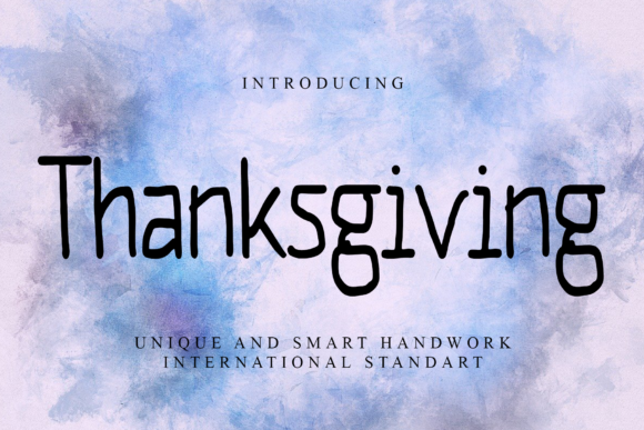 Print on Demand: Thanksgiving Script & Handwritten Font By giatstudios