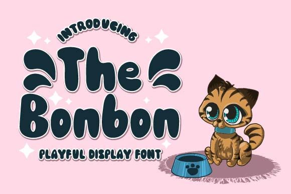 Print on Demand: The Bonbon Display Font By Prioritype