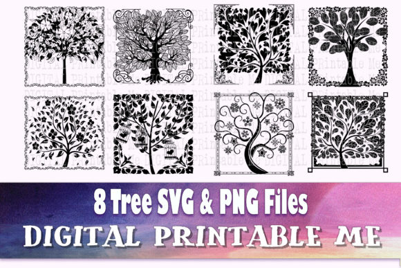 Print on Demand: Tree of Life Silhouette, Forest SVG Graphic Crafts By DigitalPrintableMe