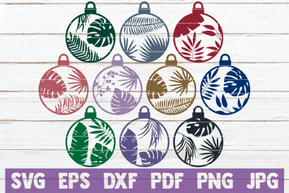 Tropical Christmas Ornaments Graphic Crafts By MintyMarshmallows
