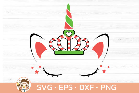 Unicorn Candy Cane Svg and Clipart Graphic Illustrations By Guppic the duck