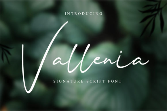 Print on Demand: Vallenia Script & Handwritten Font By rudhisasmito