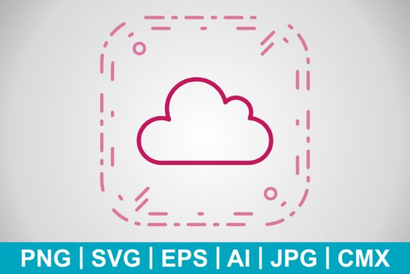 Print on Demand: Vector Cloud Icon Graphic Icons By IYIKON