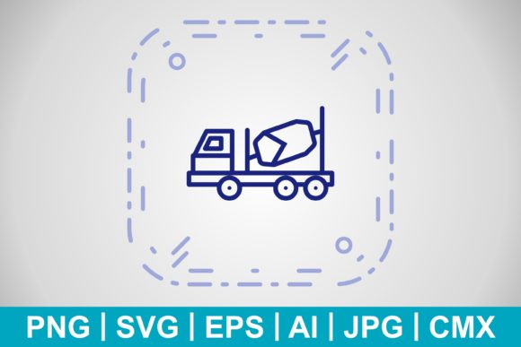 Print on Demand: Vector Concrete Mixer Icon Graphic Icons By IYIKON